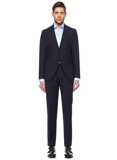 Etro Etro  Çizgili Yün Takım Elbise 101617883 Lacivert